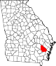 80px-Map_of_Georgia_highlighting_Wayne_County.svg