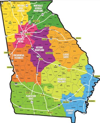 Regions By Geography Georgia Probate Court Com - Georgia map geography